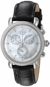 [ジェビル]GV2 by Gevril  Marsala Analog Display Swiss Quartz Black Watch 9810 レディース
