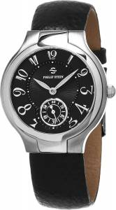 [フィリップ ステイン]Philip Stein Classic Round Black Leather Strap Natural 41FBCB