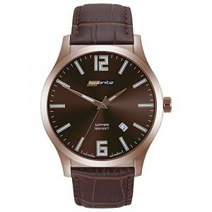 [アーマーライト]Armourlite Isobrite Grand Slimline Brown Dial Watch with Brown Leather ISO905
