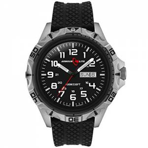 [アーマーライト]Armourlite  Professional Series Steel Watch Black Rubber Band AL1411