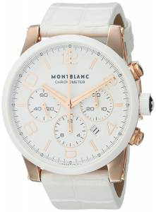 [モンブラン]MONTBLANC Timewalker Chronograph Automatic White Leather Strap Swiss Rose 104669
