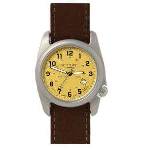 [ベルトゥッチ]bertucci 腕時計 Brown Leather Strap Band Khaki Dial Watch 12089