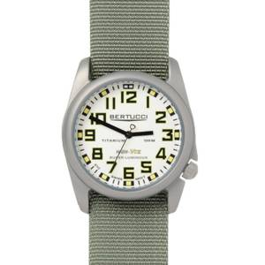 [ベルトゥッチ]bertucci 腕時計 Defender Drab Nylon Strap Band White Dial Watch 13450