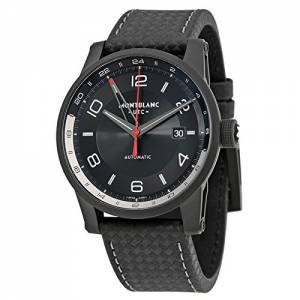 [モンブラン]MONTBLANC  Timewalker Urban Automatic Black Dial Black Leather Watch 113876