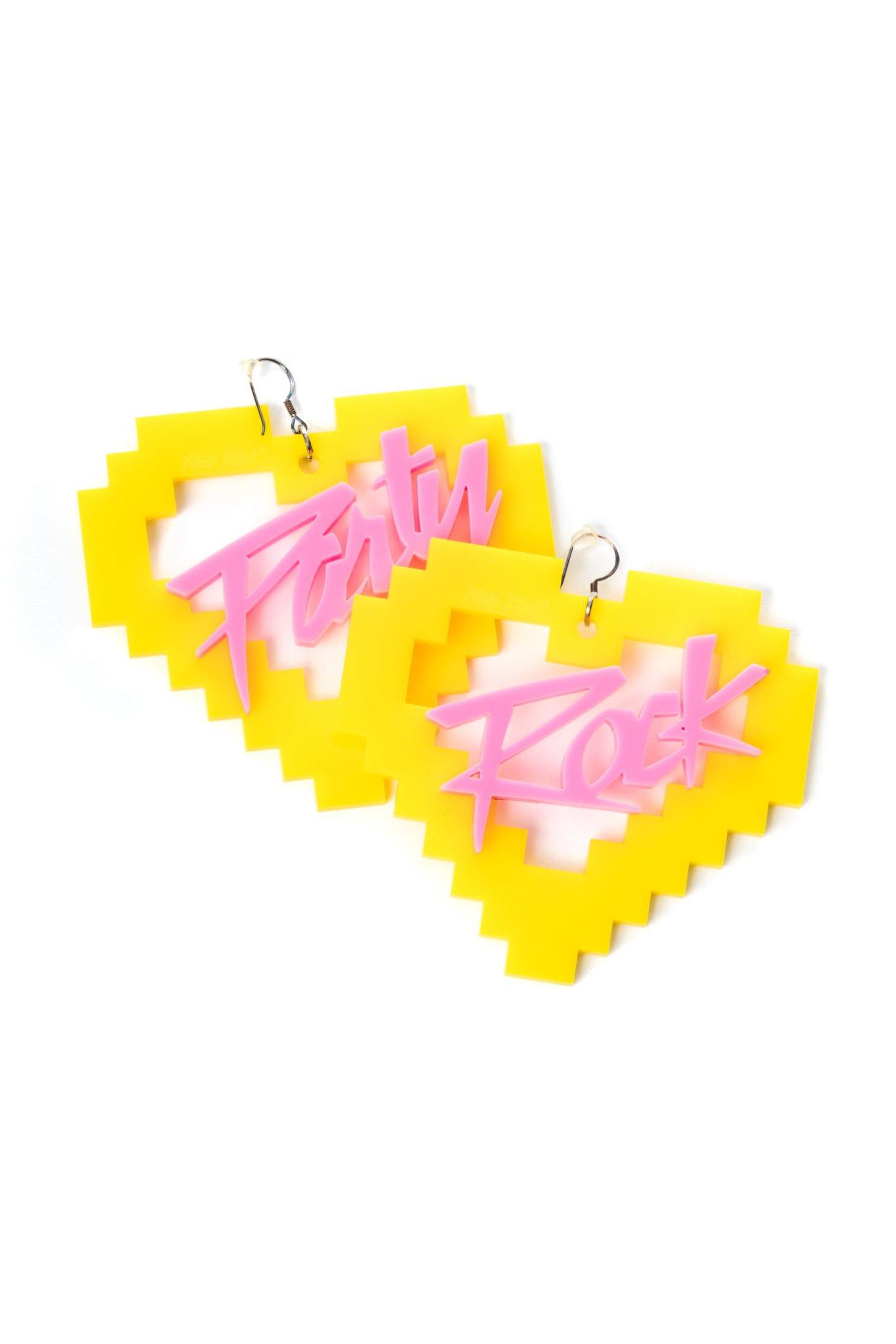 Party Rock Clothing★パーティーロッククロッシング ★Party Rock La La La Earrings (イエロー/ピンク)