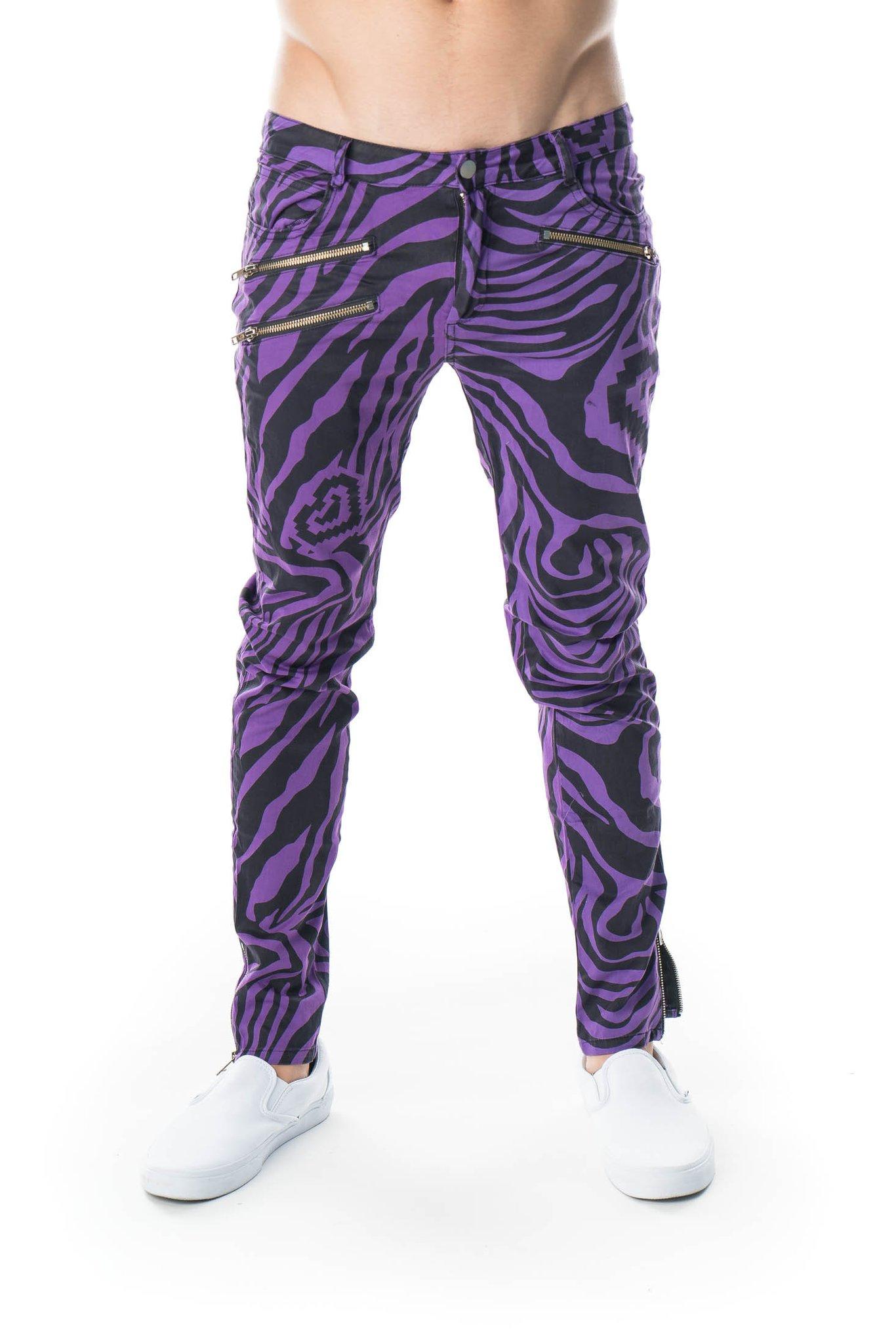 Party Rock Clothing★パーティーロッククロッシング ★La Freak Zebra Pants (パープル)
