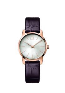 [カルバン クライン]Calvin Klein 腕時計 City Rose Gold Leather Strap Watch K2G23620