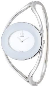 [カルバン クライン]Calvin Klein 腕時計 Delight White Silver Small Bangle Watch K1A2351G