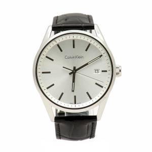[カルバン クライン]Calvin Klein 腕時計 Black Analog Leather Watch K4M211C6 メンズ