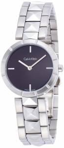 [カルバン クライン]Calvin Klein 腕時計 Edge Silver Steel Bracelet Watch K5T33141