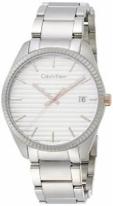 [カルバン クライン]Calvin Klein Herrenuhr Watch White Dial Stainless Steel Case K5R31B46