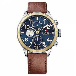 [トミー ヒルフィガー]Tommy Hilfiger  Multifunction Brown Leather watch # 1791137 メンズ