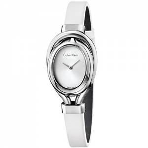 [カルバン クライン]Calvin Klein  ck Microbelt White Satin Strap Watch K5H231K6