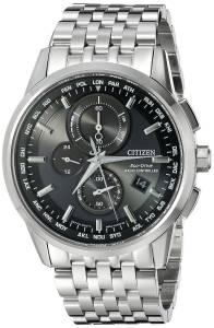 [シチズン]Citizen  World Chronograph AT Analog Display Japanese Quartz Silver Watch AT8110-53E