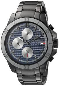 [トミー ヒルフィガー]Tommy Hilfiger  Analog Display Quartz Black Watch 1791167 メンズ