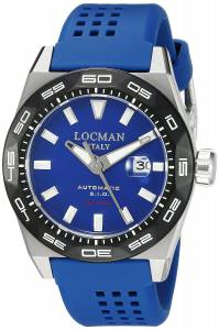 [ロックマン]Locman Stealth 300 Metri Analog Display Automatic Self Wind Blue 0215V3-0KBLNKS2B