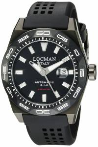 [ロックマン]Locman Stealth 300 Metri Analog Display Automatic Self Wind Black 0215V4-KKCKNKS2K