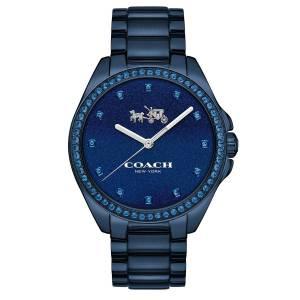 [コーチ]Coach  TRISTEN BLUE IONPLATED STAINLESS STEEL BRACELET WATCH 36MM 14502343