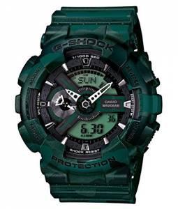 [カシオ]Casio  GShock XLarge Case Metallic Green Camo Watch GA110CM3ACR GA110CM-3ACR メンズ