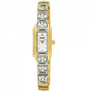 [パルサー]Pulsar  Crystal Accented Dress GoldTone Stainless Steel Watch PEX536 レディース