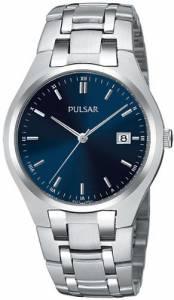 [パルサー]Pulsar 腕時計 Dress SilverTone Stainless Steel Watch PXDA93 メンズ