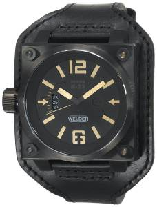 [ウェルダー]Welder  K23 K23 Analog Black IonPlated Stainless Steel Square Watch 1778 メンズ