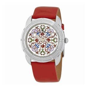 [ルシアン ピカール]Lucien Piccard  Pattern Dial Red Leather Watch 28155RD メンズ