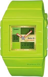 [カシオ]Casio 腕時計 GShock Square Vivid Combination Wrist Watch in Green BGA200-3E