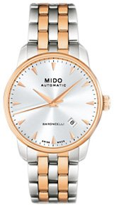 [ミドー]Mido  Baroncelli Mechanical Automatic Swiss Watch White Rose Gold M86009111 メンズ