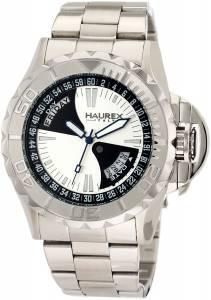 [ハウレックスイタリア]Haurex Italy Black Sea Silver Dial Day and Date Minute 7A365US1