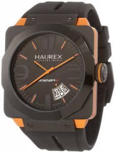 [ハウレックスイタリア]Haurex  Italy Athenum Black IP And Orange Aluminum Watch 1N372UNO