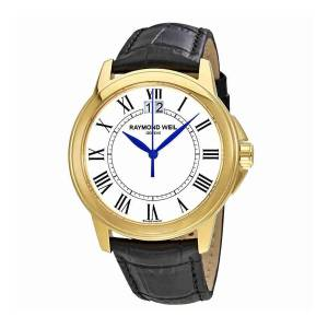 [レイモンドウィル]Raymond Weil  Tradition White Dial Black Leather Watch RW-5476-P-00300