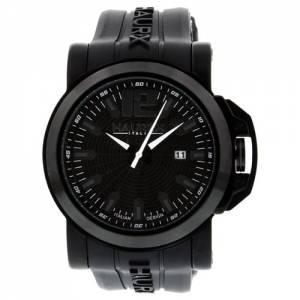 [ハウレックスイタリア]Haurex  San Marco Black Dial Stainless Steel Watch 1N370UNN