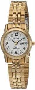 [パルサー]Pulsar  Quartz Brass and Stainless Steel Dress Watch, Color:GoldToned PXU040X