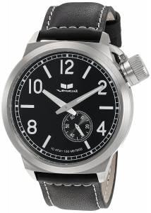 ベスタルヴェスタル Vestal Men's CTN3L01 Canteen Black Silver with Black Enamel Crown Watch
