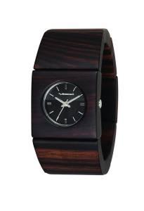 ベスタル Vestal Women's RWS3W01 Rosewood Slim Real Wood Ebony Bangle Watch