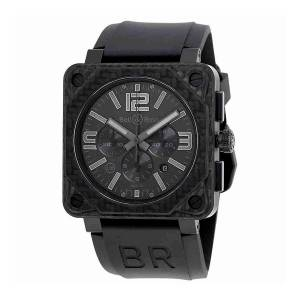 [ベルアンドロス]Bell & Ross Bell and Ross Aviation Black Phantom Dial BR0194-CA-FIBER-PH