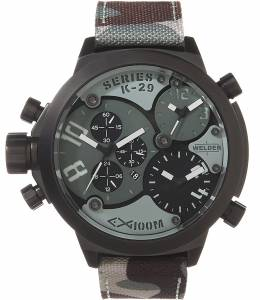 [ウェルダー]Welder by UBoat K29 Triple Time Zone Chronograph Black Steel Sport K29-8004-Amz
