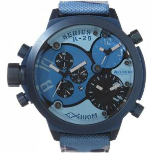 [ウェルダー]Welder by UBoat K29 Triple Time Zone Chronograph Blue Steel Sport K29-8006-Amz