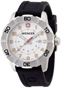 [ウェンガー]Wenger Roadster Quartz Watch with White Dial Analogue Display and Black 010851104
