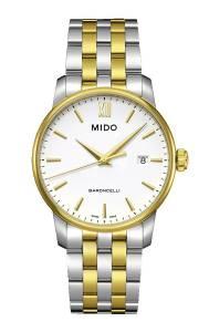 [ミドー]Mido Watch Baroncelli M013.410.22.011.00 White Dial Stainless Steel Case M0134102201100
