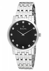 [ブローバ]Bulova 腕時計 96D106 Silver Tone/Black Stainless Steel Watch BUL-96D106 メンズ
