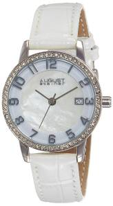 [オーガストシュタイナー]August Steiner MotherofPearl SilverTone Watch with White AS8056WT