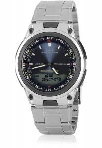 [カシオ]Casio AW80D2AVMns 30Pg Databank Analog Watch Ana Digi Chrono Blue AD61 - AW-80D-2AVDF