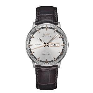 [ミドー]Mido 腕時計 Watch Silver Dial Leather Strap Commander メンズ [並行輸入品]
