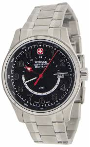 [ウェンガー]Wenger 腕時計 Swiss Army Field Watch GMT Black Dial 79028 79013