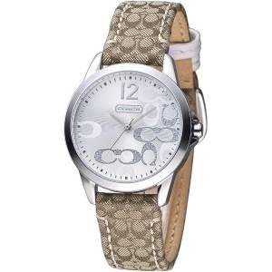 [コーチ]Coach 腕時計 Classic Signature Strap Silver Dial Watch 14501620 レディース