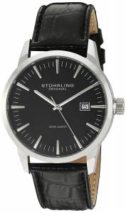 Stuhrling Original Men's 555.02 Ascot 42 Date Black