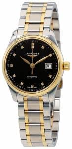 [ロンジン]Longines 腕時計 Master Black Diamond Dial Watch L22575577 L2.257.5.57.7