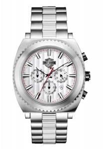 [ブローバ]Bulova 腕時計 HarleyDavidson Silver Tone Chronograph Watch 78B130 メンズ